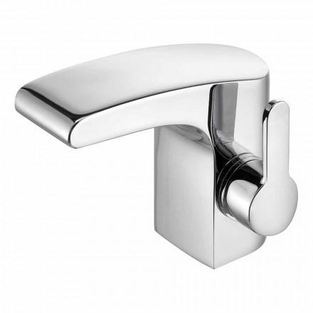 Luksusowa jednouchwytowa umywalka łazienkowa Chromowane wykończenie - Gonzo