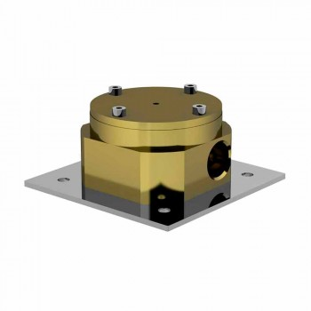Bateria wannowa nablatowa z mosiądzu Made Italy Design - Benello