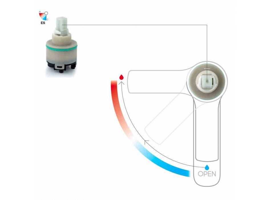 Bateria zlewozmywakowa z mosiężnym odpływem Made in Italy - Sindra