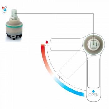 Bateria umywalkowa bez odpływu z mosiądzu Made in Italy - Sindra