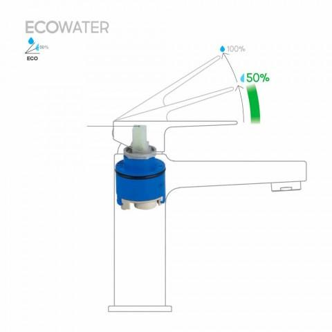 Bateria umywalkowa z 2-strumieniowym prysznicem ręcznym z mosiądzu Made in Italy - Croma