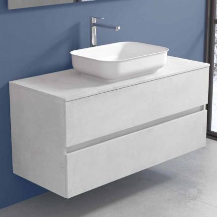 Podwieszane meble łazienkowe z designerską umywalką w 4 wykończeniach - Paoletto
