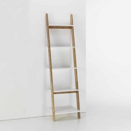 Szafka łazienkowa z 5 półkami z bambusa i płyty MDF - Gianmarco