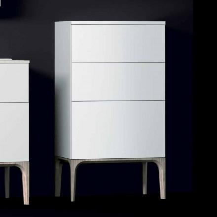 Nowoczesna szafka łazienkowa z 3 szufladami w kolorze bursztynu, lakierowana, wyprodukowana we Włoszech