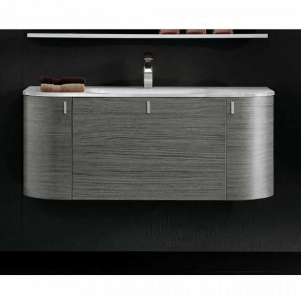 Szafka podumywalkowa z 1 komorą + umywalka 2cm w kolorze Happy Oak
