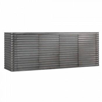 Szafka z 4 drzwiami z formowanego drewna, L230xP49 cm, Dana