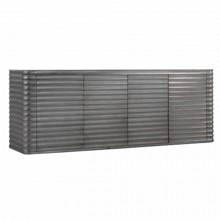 Szafka  230x49cm z 4 drzwiami z formowanego drewna,model Dana