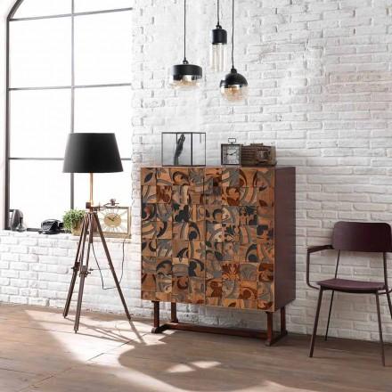 Szafka designerska z dwoma drzwiami z drewna mango, Cellara