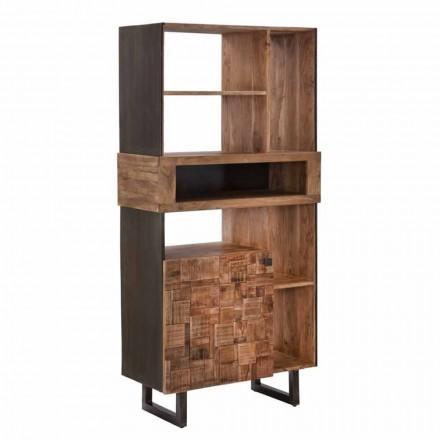 Mobilna biblioteka projektów z żelaza i drewna akacjowego - Desdemona