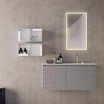Meble podwieszane, nowoczesna kompozycja łazienkowa - Callisi9