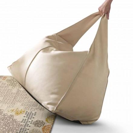 Pufa nowoczesna ze skóry My Home Bag made in Italy