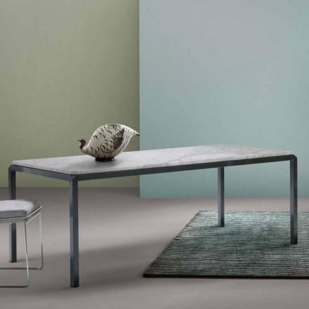Stół design z białego marmuru My Home Bebop made in Italy