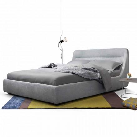 Łóżko capicerowane 2 osobowe Sleepway od My Home, made in Italy