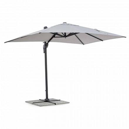Parasol ogrodowy 2x3 poliester z antracytowym aluminiowym słupkiem - Coby