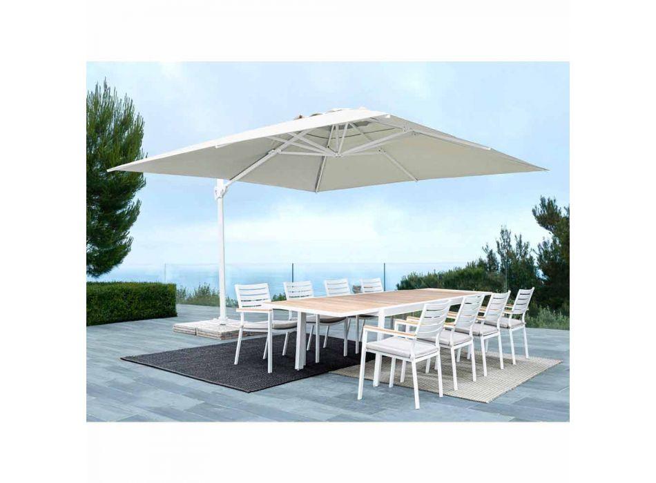 Aluminiowy parasol ogrodowy 3x4 z tkaniną poliestrową - Fasma