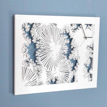 Zaprojektuj zegar ścienny z białego drewna lub prostokątnego gołębia - Artificio