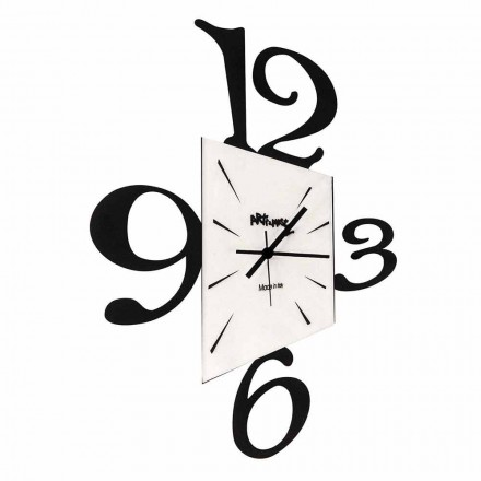 Designerski zegar ścienny z czarnego żelaza lub aluminium Wykonany we Włoszech - Prospi