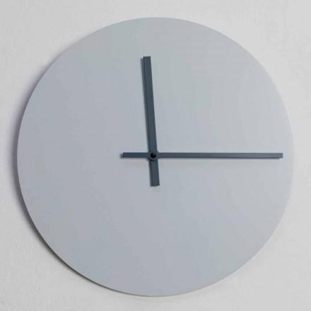 Okrągły zegar ścienny o nowoczesnym designie w kolorze szarym i niebieskim Made in Italy - Umbriel
