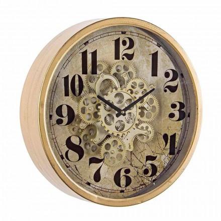 Okrągły zegar ścienny o średnicy 46,5 cm ze stali i szkła Homemotion - Rando