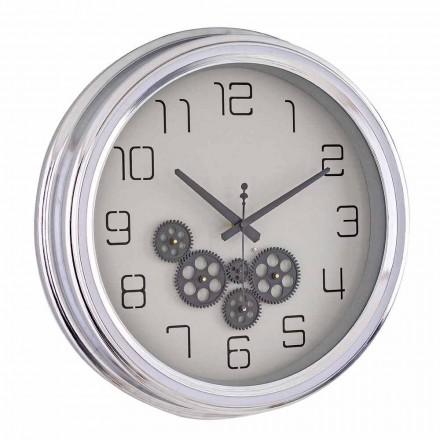 Zegar ścienny Vintage Design ze stalową konstrukcją Homemotion - Gimbo