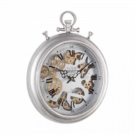 Zegar ścienny ze stali i szkła Design Vintage Homemotion - Gringo