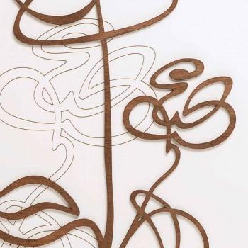 Biały Kwadratowy Drewniany Zegar Ścienny z Nowoczesną Dekoracją Róż - Przebiśnieg
