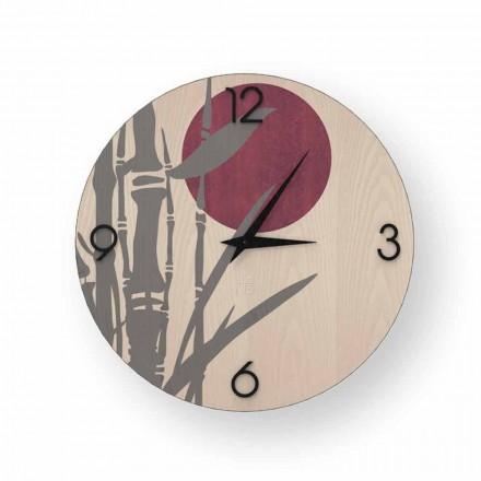 Zegar ścienny drewno Atina, made in Italy design