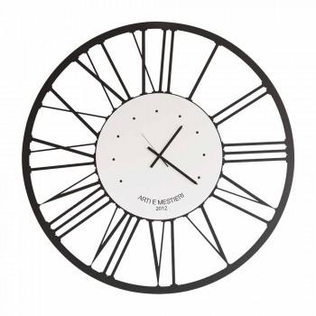 Designerski zegar ścienny z żelaza Made in Italy - Gioele