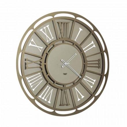 Nowoczesny zegar ścienny z żelaza Made in Italy - Classicone