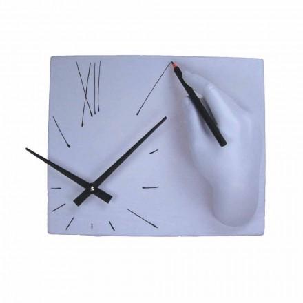 Zegar ścienny Artisan z dekorowanej żywicy Made in Italy - Vineyard