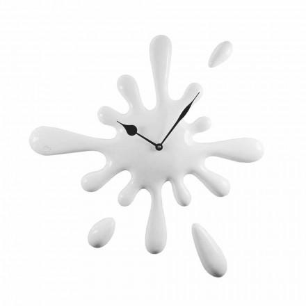 Ręcznie robiony, nowoczesny zegar ścienny z żywicy Made in Italy - Lemon
