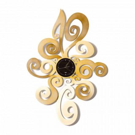 Nowoczesny zegar ścienny z żelaza, wykonany we Włoszech - Noel