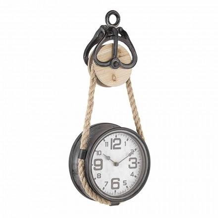 Zegar ścienny Vintage Design ze stali i szkła Homemotion - Edvige