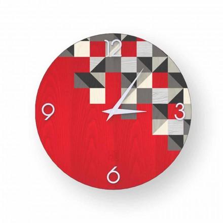 Zegar Peia drewno made in Italy nowoczesny design
