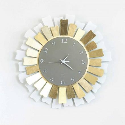 Nowoczesny okrągły dwutonowy zegar ścienny z żelaza, wyprodukowany we Włoszech - Lussuria