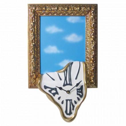 Zegar ścienny z ramką na zdjęcie z żywicy Made in Italy - Bigno