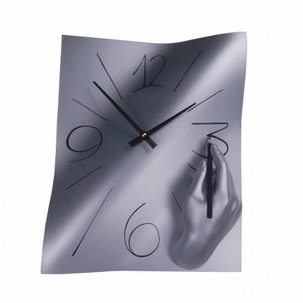 Ręcznie zdobiony zegar ścienny z żywicy wyprodukowany we Włoszech - Libii