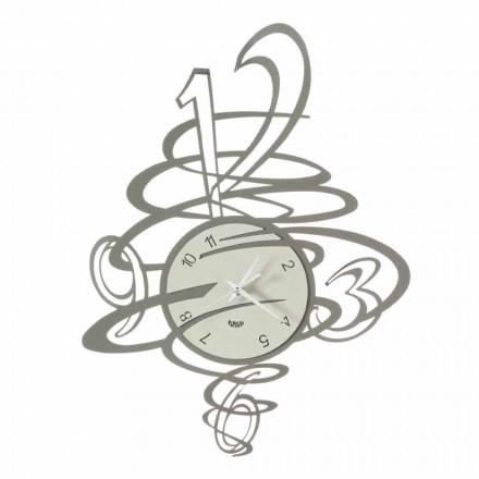 Elegancki i nowoczesny zegar ścienny z żelaza Made in Italy - Mikele