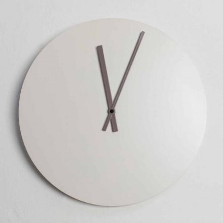 Kolorowy zegar ścienny w nowoczesnym stylu przemysłowym Made in Italy - Fobos