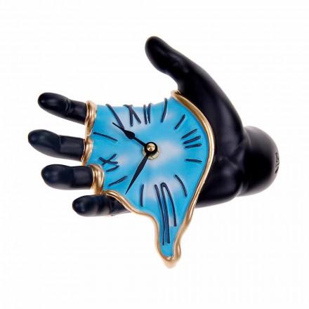 Nowoczesny zegar ścienny z żywicy rzemieślniczej Made in Italy - Seveso
