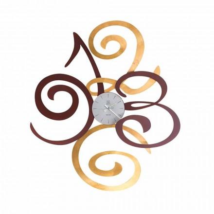 Designerski zegar ścienny z kolorowego żelaza Wykonany we Włoszech - Fiordaliso