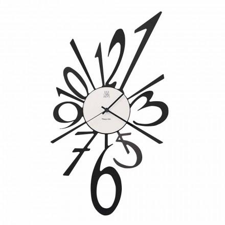 Designerski zegar ścienny z czarnego żelaza lub aluminium Wykonany we Włoszech - Oceano