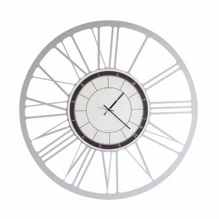 Duży, nowoczesny żelazny zegar ścienny wykonany we Włoszech - Einar