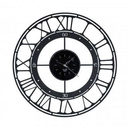 Zegar ścienny w klasycznym stylu z kolorowego żelaza Wykonany we Włoszech - w kolorze