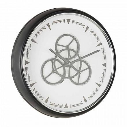 Zegar ścienny o średnicy 50 cm ze stali i szkła Homemotion - Severio