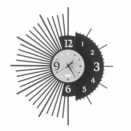Żelazny zegar ścienny Elegancki design Made in Italy - Aneto