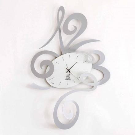 Zegar ścienny z czarnego żelaza, aluminium lub czerwieni Made in Italy - Rosbif