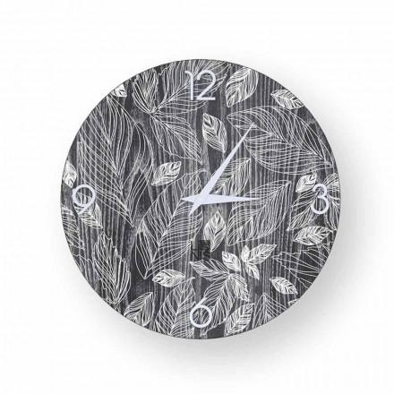 Zegarek ścienny drewno nowoczesny design Veroli, made in Italy
