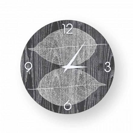 Zegar ściana drewno dekoracyjne Arce made in Italy