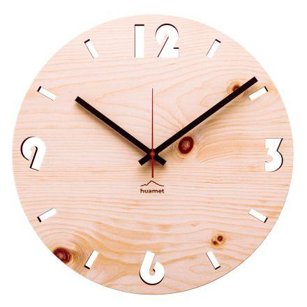 Zegar ścienny z drewna sosnowego szwajcarskiego wykonanego we Włoszech Andrea
